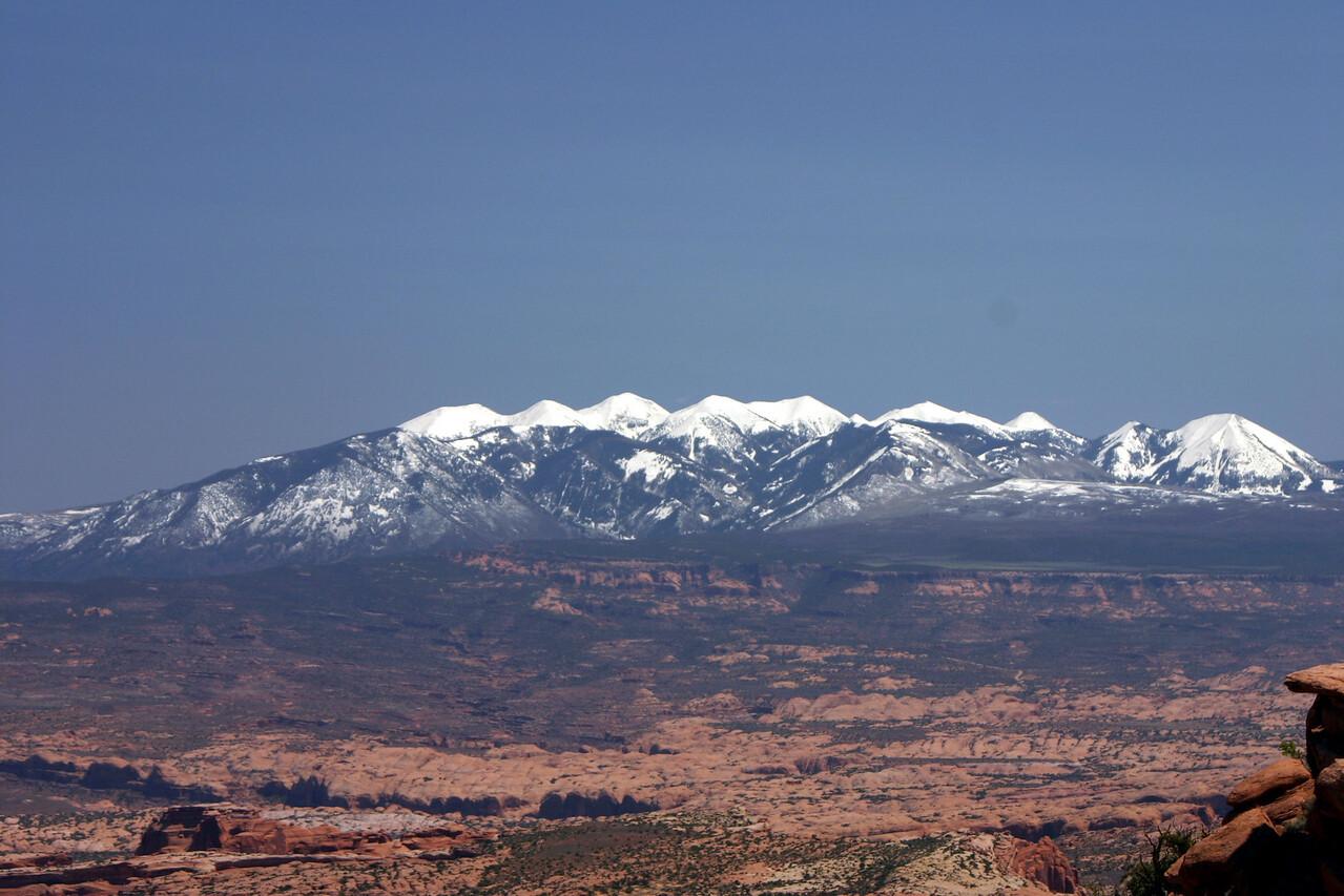 Mountains east of Mob, Utah in April