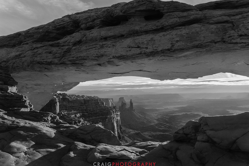 Mesa Arch 3 BW