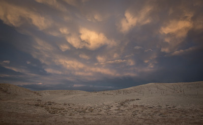 Storm clouds over the Utah desert