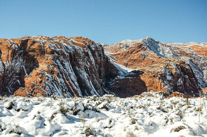 It really snows in Snow Canyon