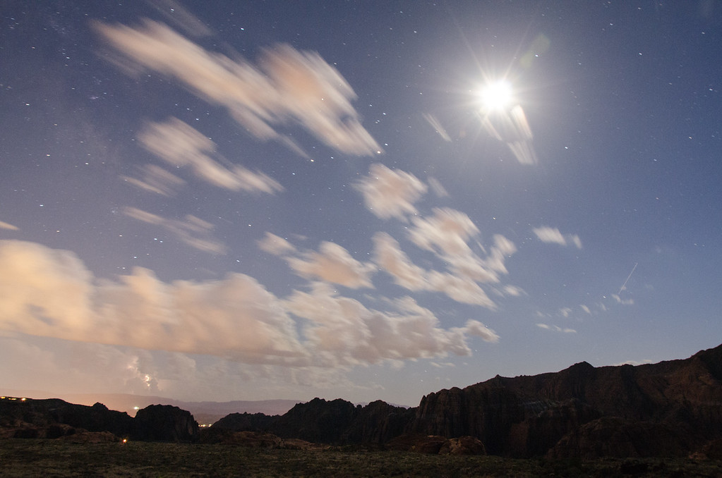 Night Time Storm Snow Canyon