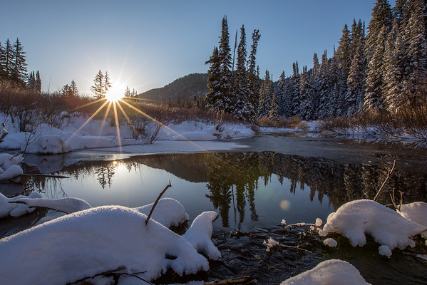 Sunrise in Big Cottonwood Canyon