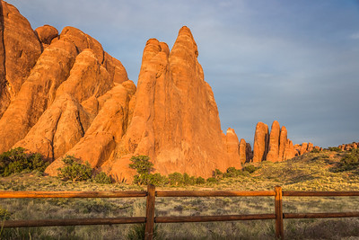 Rows of Sandstone Fins