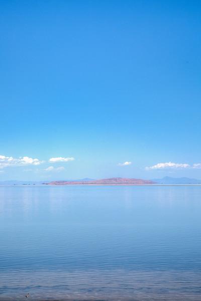 Great Salt Lake, shot from Antelope Island, Utah, USA