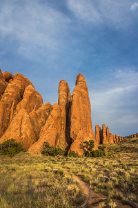 Sandstone Fins at Arches National Park