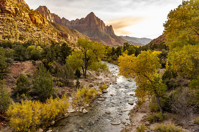 Virgin River Enters Zion National Park