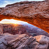 Sunrise at the famous Mesa Arch in Canyonlands National Park