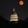 Hazy Moon over Utah Capitol