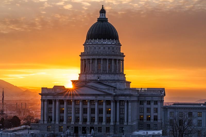 Sunset at Utah Capitol