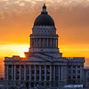 Sunset at Utah Capitol