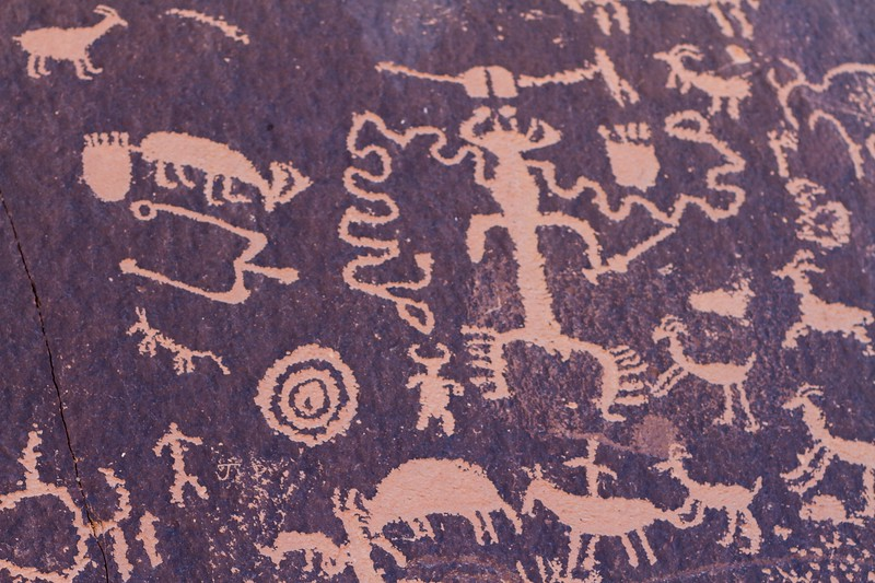 Petroglyphs at Newspaper Rock