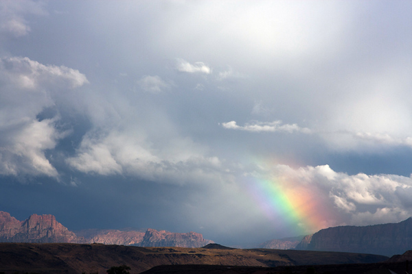 Rainbow near Zion National Park
