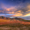 Sunset over Antelope Island State Park in Utah