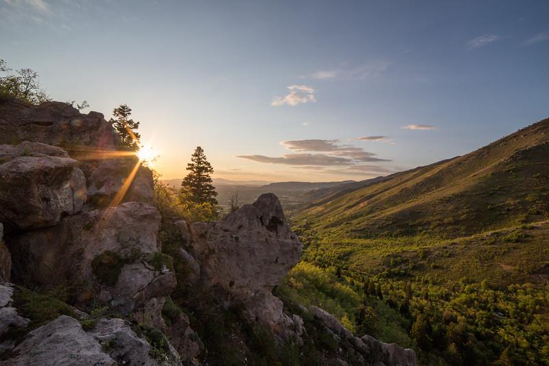 Neffs Canyon Sunset