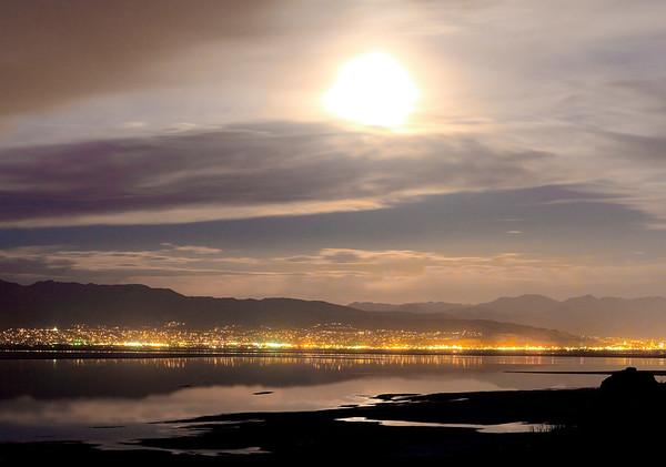 Moonlight over Salt Lake City