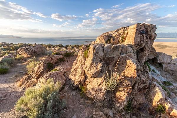Buffalo Point on Antelope Island in Utah