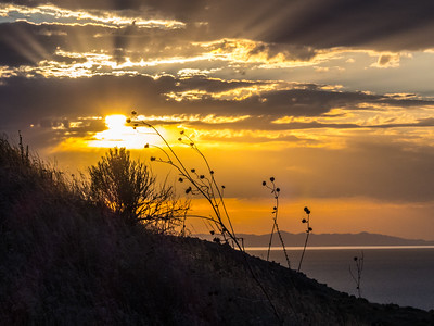 Sunset over the Great Salt Lake & Antelope Island