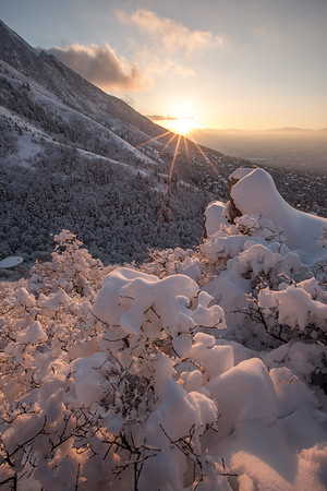 Mount Olympus Winter Sunset 2