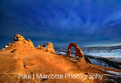 Golden Hour at Delicate Arch