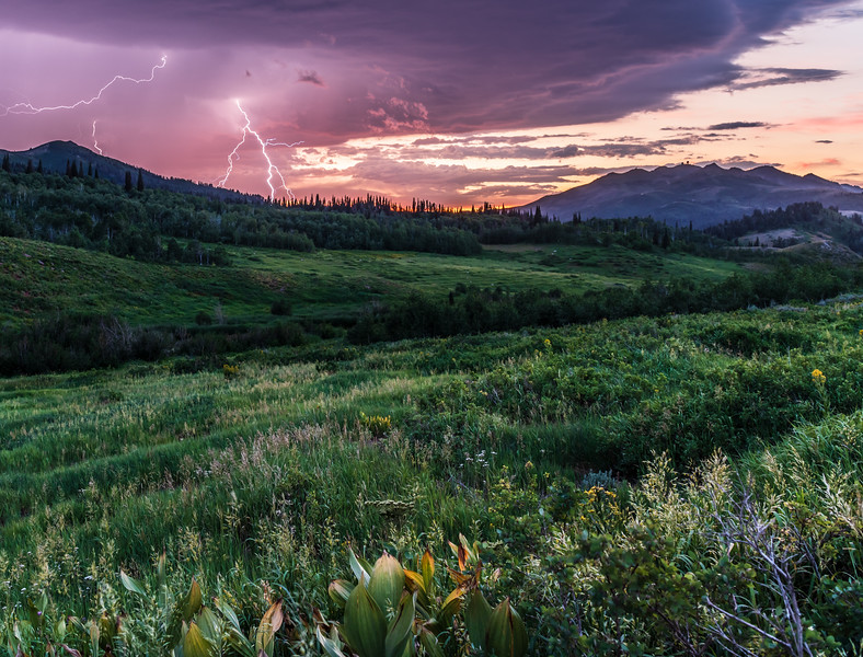 Farmington Canyon Lightning Storm