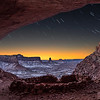 Star Trails and Sunrise at False Kiva