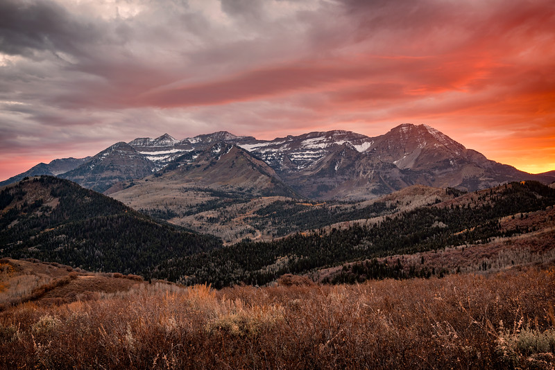 Sunset over Mount Timpanogos