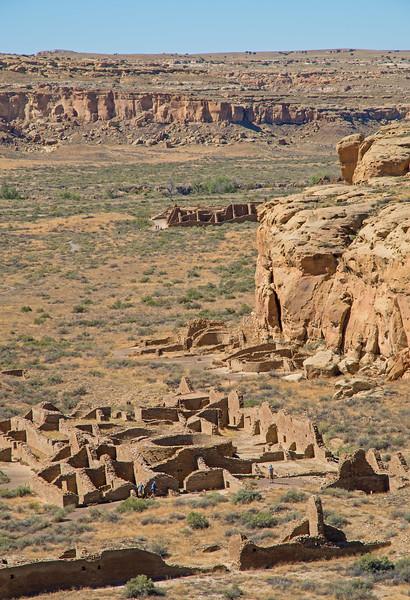 Chetro Ketl, with Pueblo Bonito in the background.