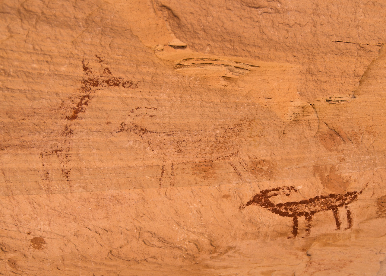Most of the pictographs are very faded here.