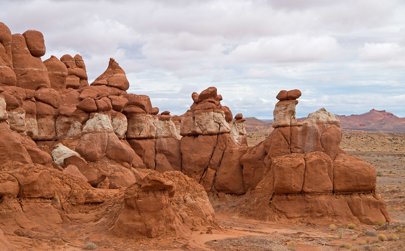Little Egypt is reminiscent of Goblin Valley, but not as extensive and with less hoodoos. However, with no people or entrance fee-it is well worth a quick stop to explore.