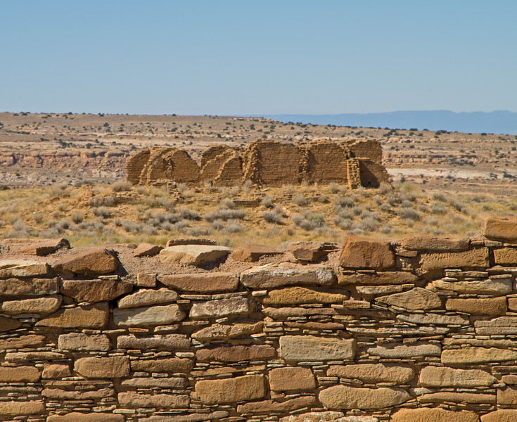 New Alto, as seen from the largely unexcavated walls of Pueblo Alto.