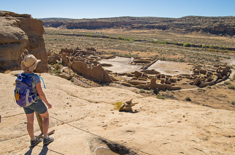 Not far along- an overview of Pueblo Bonito.