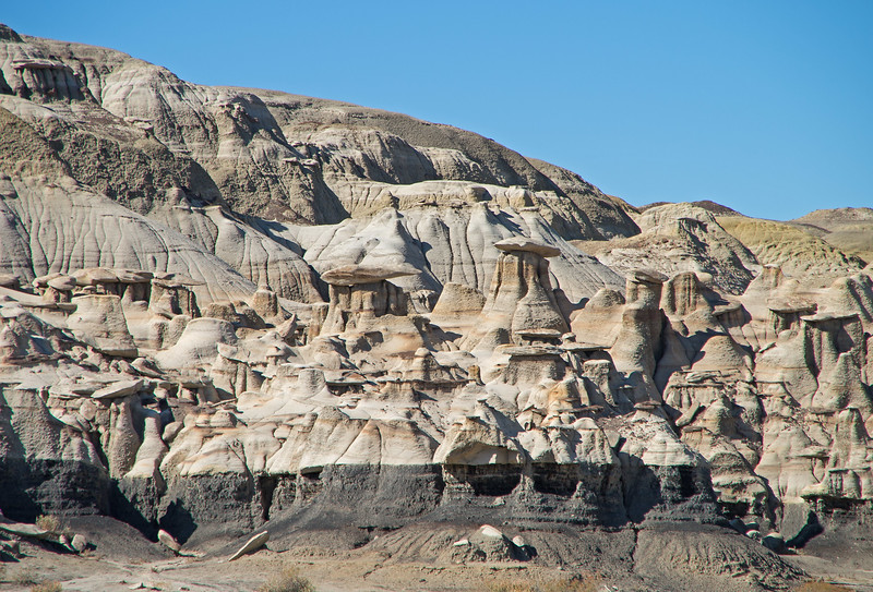Before too long though, we encountered the first of innumerable hoodoos and intricately weathered formations.