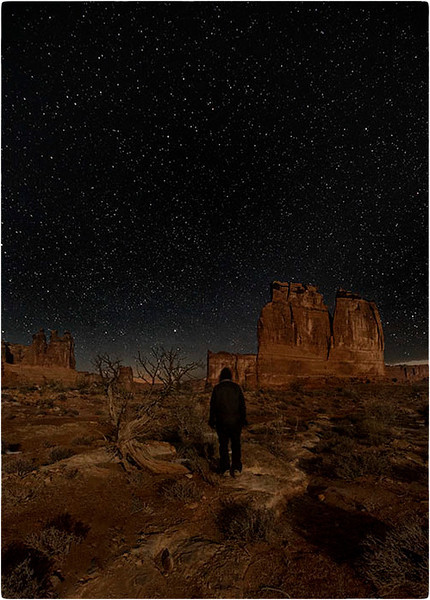 Self portrait, Courthouse Towers, Arches NP