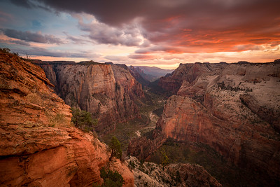 Nature's Fireworks Over Zion Canyon