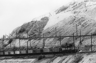 Kennecott 740 climbing back to mine with a train of empties. 1972. (Don Strack Photo)