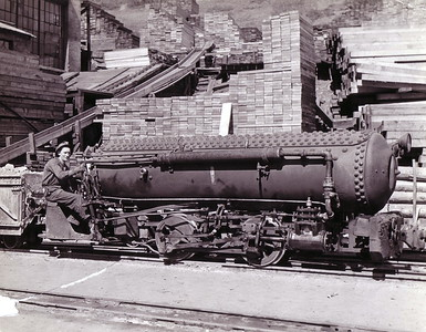 U. S. Mine Air Locomotive. (Ron Peterson Collection)