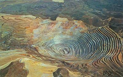 Bingham Copper Mine Postcard Hal Rumel No Date