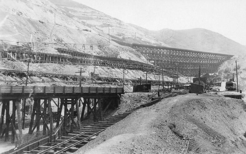 Original Utah Copper precipitation plant, 1923