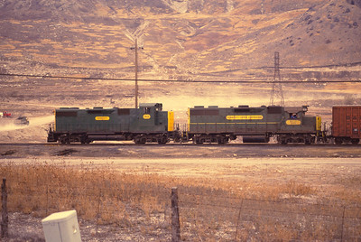 Kennecott GP39-2s 911 and 905. Number 911 is the former 786, assigned to the Bingham mine and equipped with an extra height cab. (Rick Bezzant Photo)