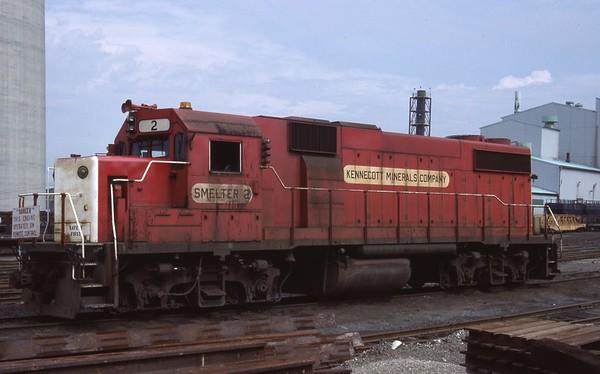 Kennecott Smelter GP39-2s