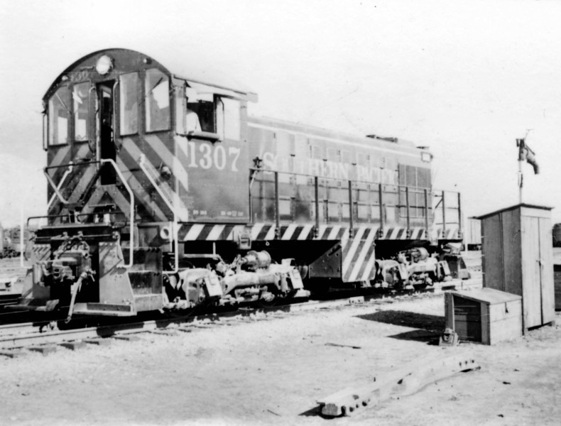SP Alco S-2 no. 1307. An SP Alco switcher works the east end of Ogden''s main yard. (Bob Smith Photo)