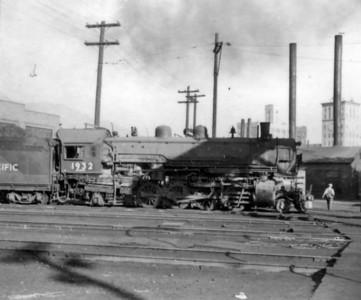 UP 2-8-2 no. 1932 on the Ogden turntable whisker tracks. (Bob Smith Photo)
