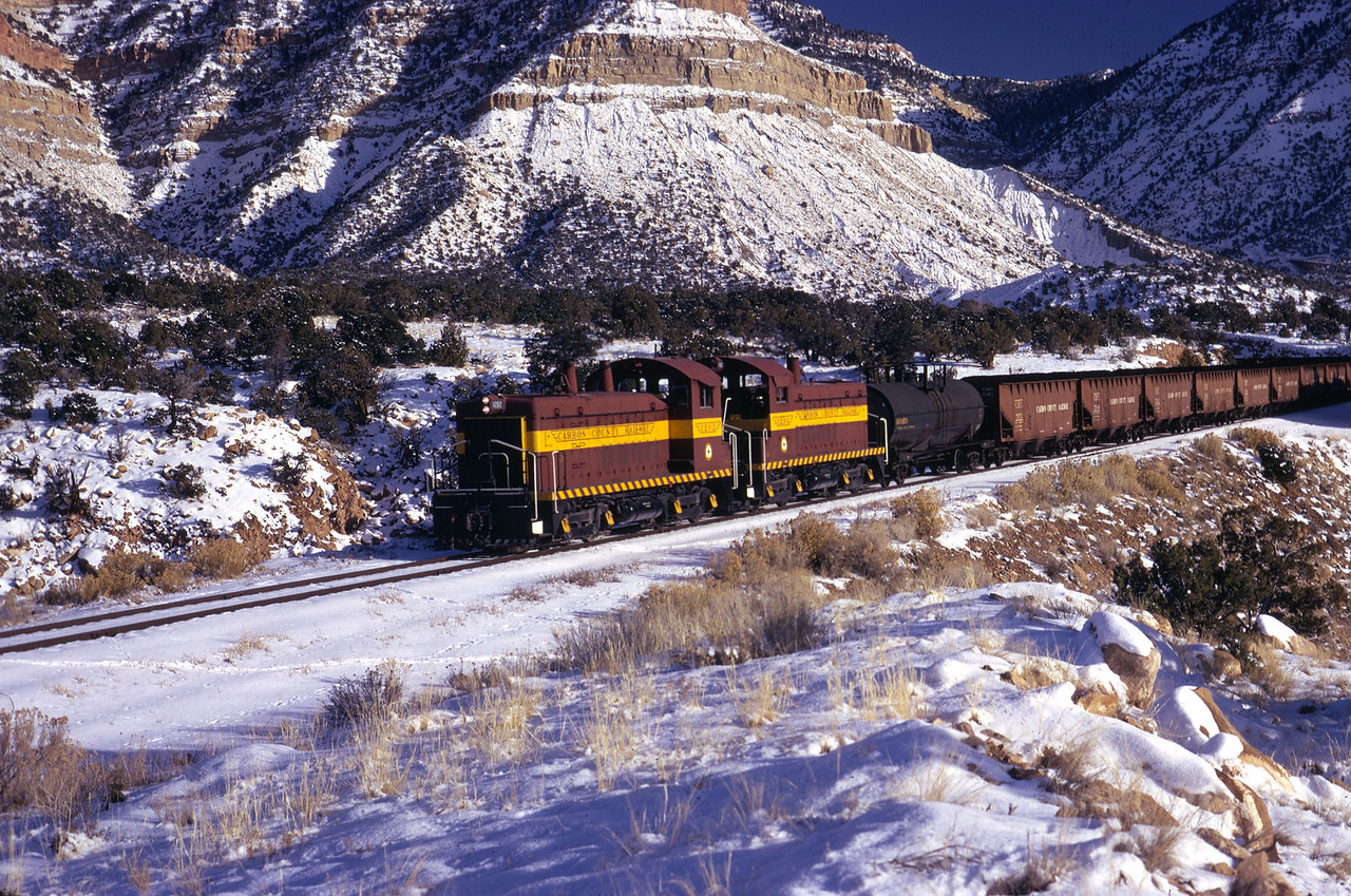 Carbon County, near Columbia Yard, December 1972. (Don Strack Photo)