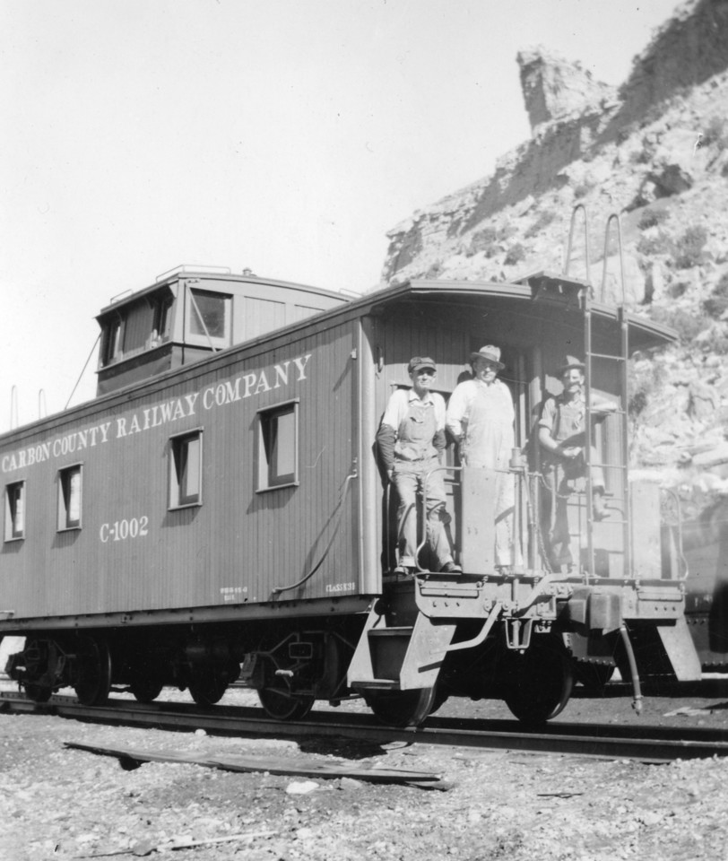 Carbon County Railway's wooden caboose remained in operation until it was replaced in 1960. (Bill Shaff Collection)