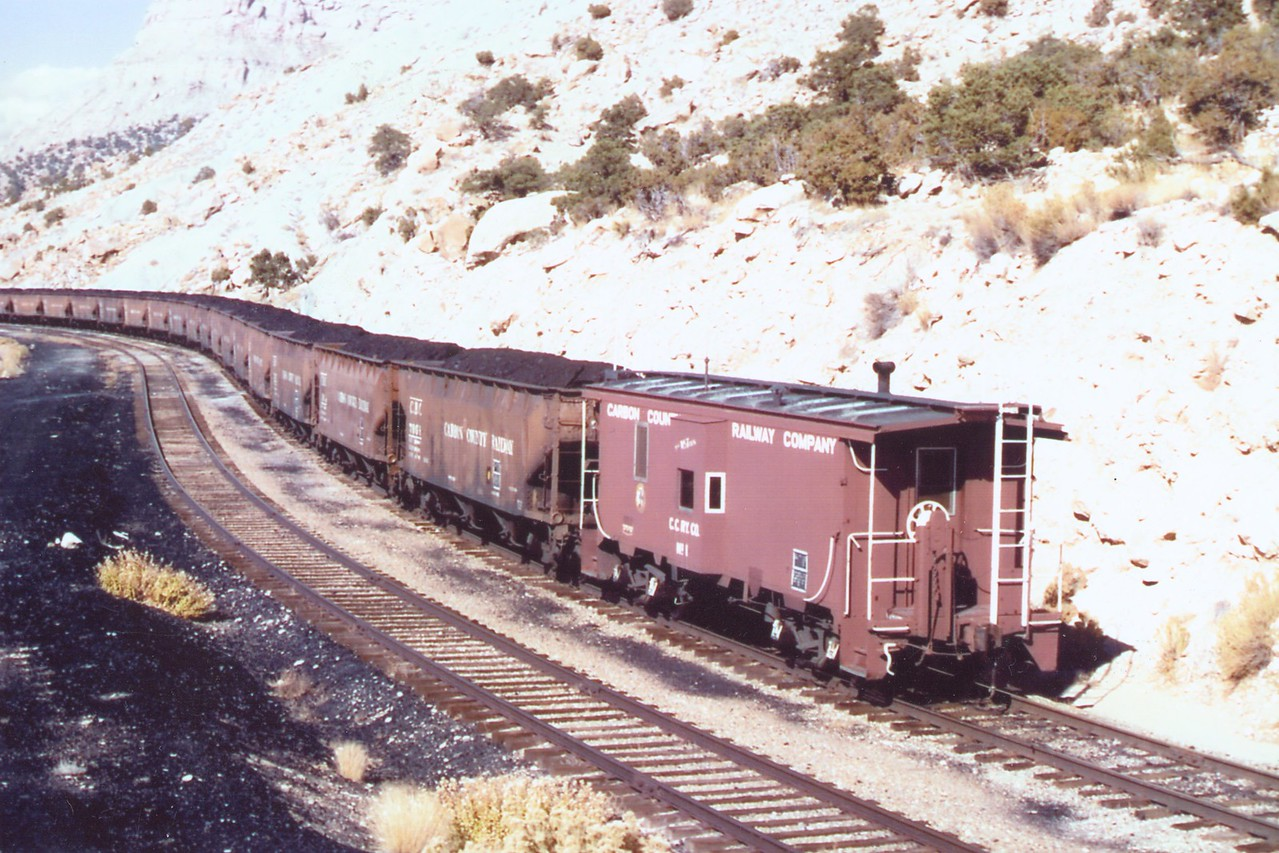 Carbon County loaded train.