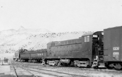 Carbon County Railway's two Baldwin VO-1000s, numbers 262-1 and 262-2, switch the yard at Columbia, Utah. Both units were built for the Defense Plant Corporation in November 1943, and became Carbon County Railway units in 1946 when U. S. Steel bought the entire Geneva plant, which included the Columbia mine, the Geneva mine in Horse Canyon, and the Carbon County Railway. (Bill Shaff Collection)