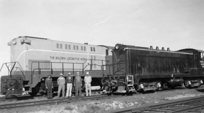 Carbon County 262-2 and Baldwin demonstrator 2000, April 1949. (Bill Shaff Collection)