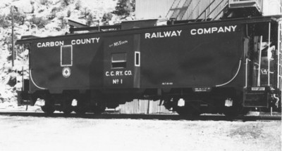 Carbon County steel caboose. (Bill Shaff Collection)