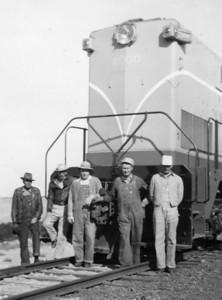 The Crew, April 1949. (left to right: Charles Wiley, Joe Shaff, Dan Porter, Nephi Gundarason, Bill Shaff) (Bill Shaff Collection)