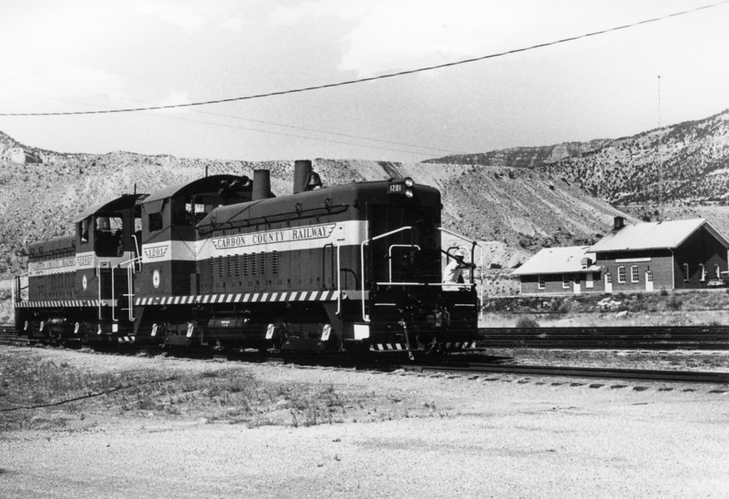 Carbon County 1201 and 1202 in 1972 (Ken Ardinger Photo)